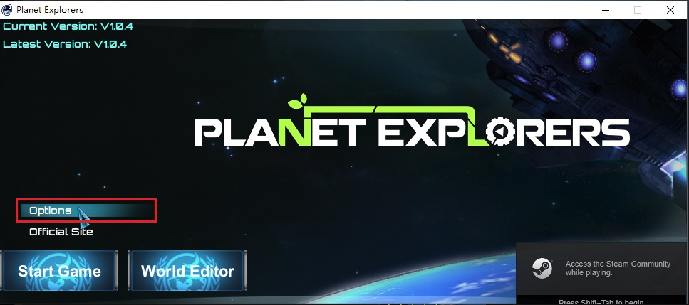 Planet Explorers launcher